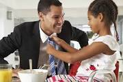 man with tie daughter